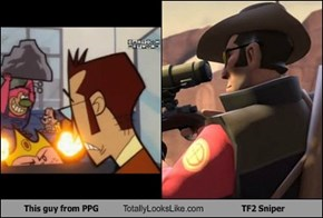 This guy from PPG Totally Looks Like TF2 Sniper
