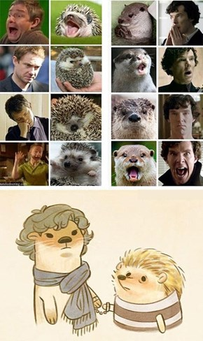 Sherlock Otters and John Hegehog