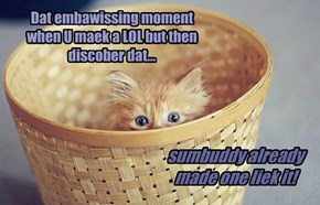 I'd hide in a basket too!
