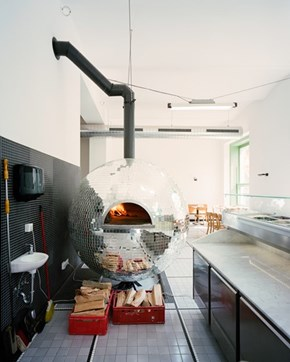 The Pizzeria That Has its Own Disco Ball... Oven