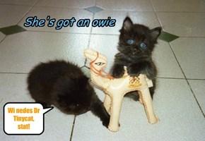 She's got an owie