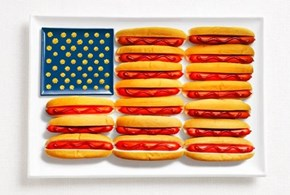 The American Flag Made With America's Food