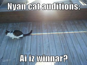 Nyan cat auditions:  Ai iz winnar?