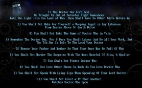 The Ten Commandments of Doctor Who