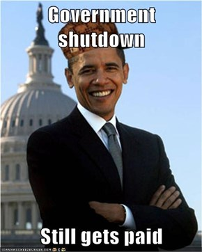 Government shutdown  Still gets paid