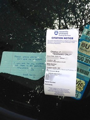 This Parking Enforcer Deserves a Medal