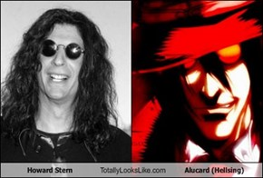 Howard Stern Totally Looks Like Alucard