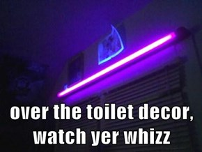 over the toilet decor, watch yer whizz