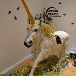 This is an Honest-to-God Unicorn Cake