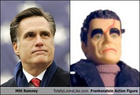 Mitt Romney Totally Looks Like Frankenstein Action Figure