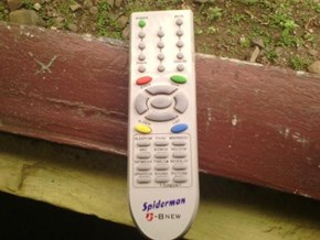 This Remote Can Stick On The Wall.