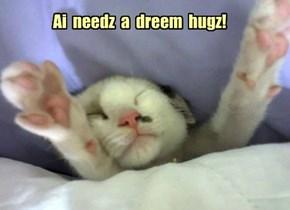 Ai  needz  a  dreem  hugz!