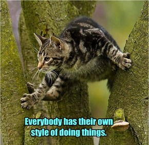 Everybody has their own style of doing things.