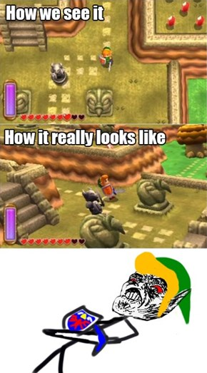 How Zelda: A Link Between Worlds Really Looks Like