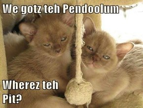 We gotz teh Pendoolum  Wherez teh                             Pit?