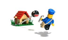 Chain Chomp in LEGO