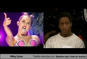 Miley Cyrus Totally Looks Like Random man I saw on mauray