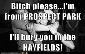 b*tch please...I'm from PROSPECT PARK   I'll bury you in the        HAYFIELDS!