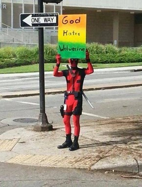 Deadpool Signs Up for the Westboro Baptist Church