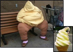This Person Looks Like an Ice Cream Cone