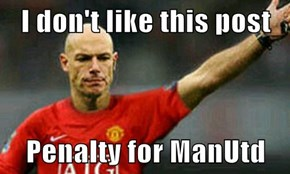 I don't like this post  Penalty for ManUtd