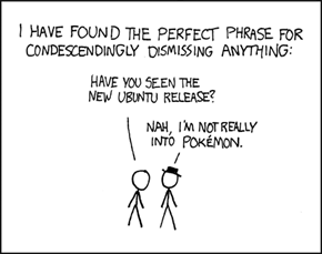 XKCD: Not really into pokemon