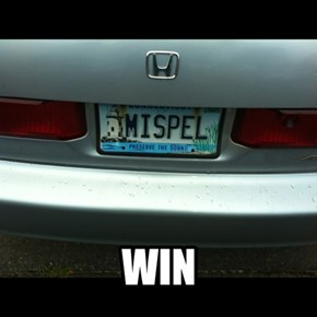 Best. License plate. EVER.