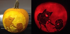 Spoopy Finn and Jake Pumpkin