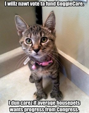 GOP Kitteh talks herself into a corner.