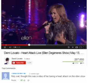 Demi is Top of the EKG Charts