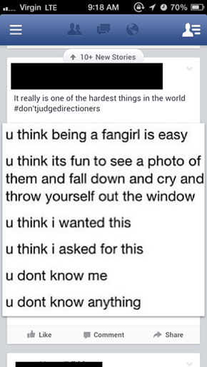 Being a Fangirl is Hard Work