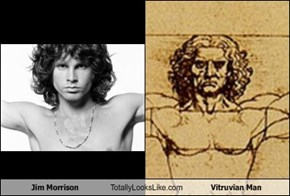 Jim Morrison Totally Looks Like Vitruvian Man