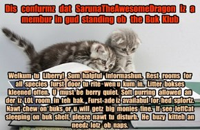 Offishul JeffCatsBookClub Memburship Kard for SarunaTheAwesomeDragon