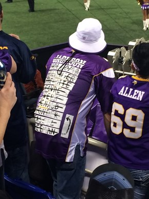 The Official Jersey of the Minnesota Vikings