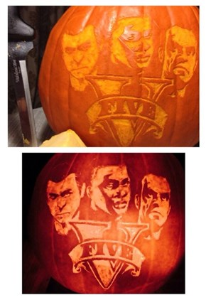 Check Out This GTA V Halloween Pumpkin