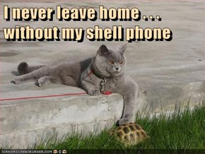 I never leave home . . . without my shell phone