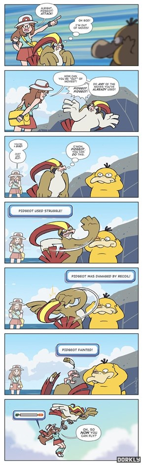 Pidgeot's Struggle