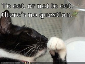 To eet, or not to eet, there's no question.