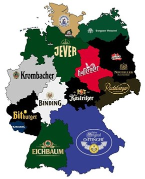 Beer Map of Germany