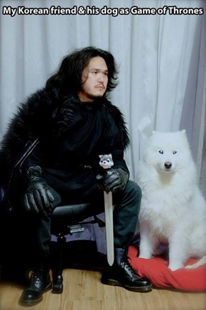 A Pretty Convincing Ghost and Jon Snow