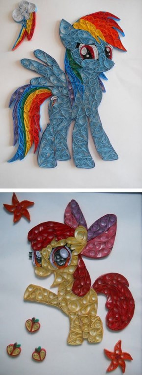 Quilled Ponies