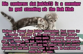 Offishul JeffCatsBookClub Memburship Kard for jadzia23