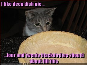 I like deep dish pie...  ...four and twenty blackbirdies should about fill this