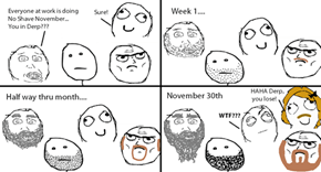 It's No Shave November Time