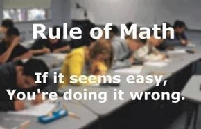 First Rule of Math