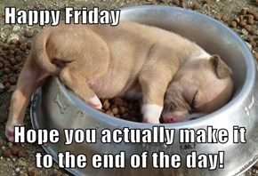 Happy Friday  Hope you actually make it to the end of the day!