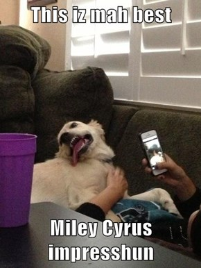 This iz mah best  Miley Cyrus impresshun