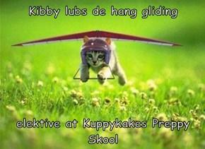 Kibby lubs de hang gliding   elektive at Kuppykakes Preppy Skool