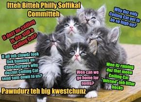 Itteh Bitteh Philly Soffikal Committeh          Pawndurz teh big kwestchunz