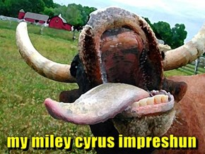 my miley cyrus impreshun
